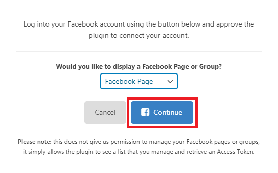 choose page or group