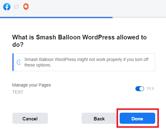 allow smash balloon manage page