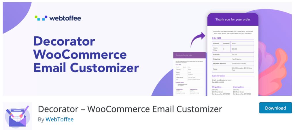 Decorator - WooCommerce Email Customizer