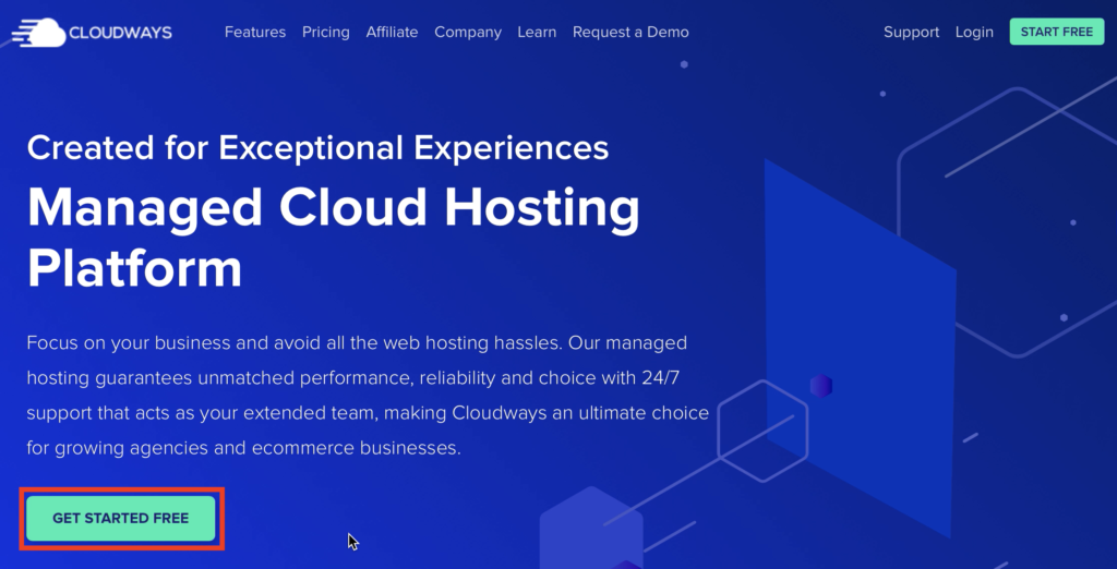Get started free from Cloudways