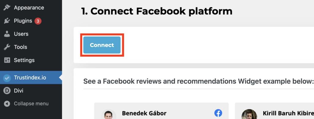 Connect Facebook platform
