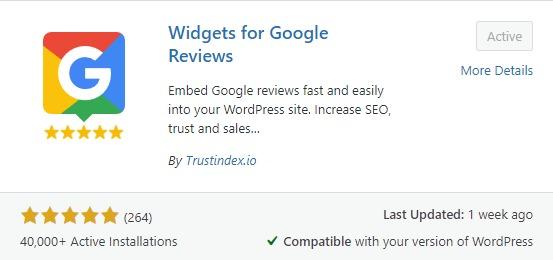 Widgets for Google Reviews