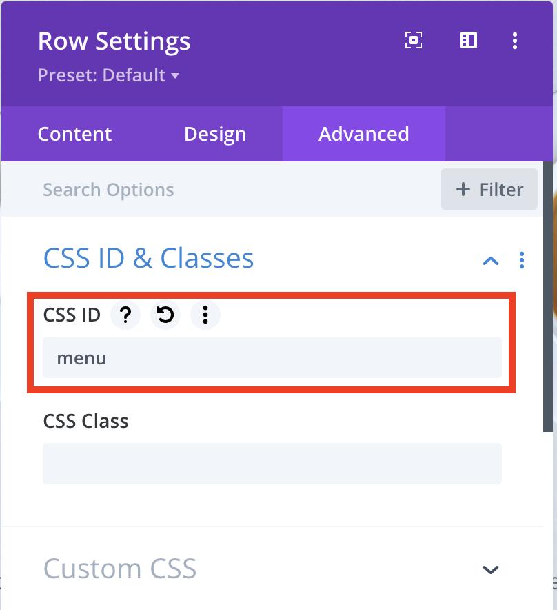 Add CSS ID